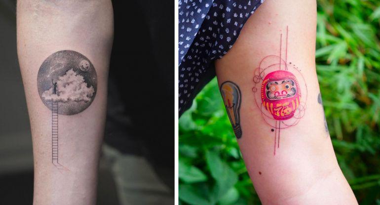 Eva Krbdk. Татуировка как произведение искусства. Тату рука