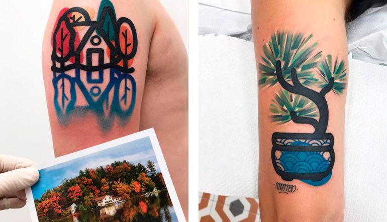 Маттиа Мамбо. Татуировки и дизайн