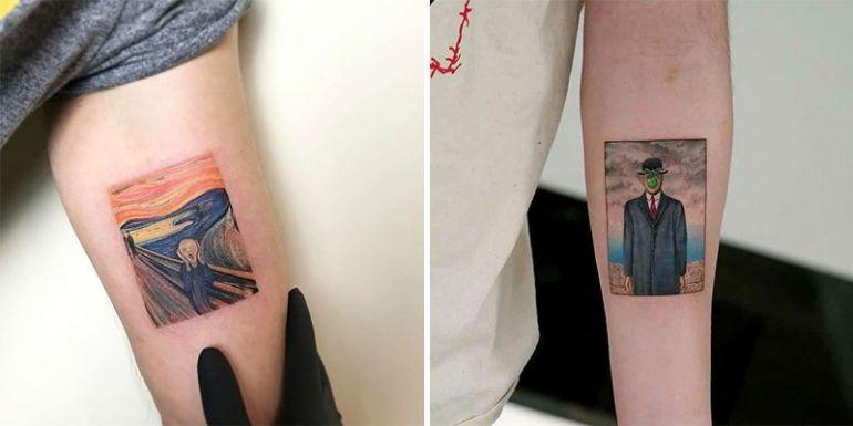 Картины на татуировке. живопись