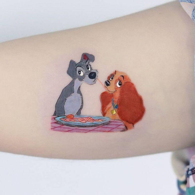 популярные персонажи и картины на тату. Татуировки для девушек