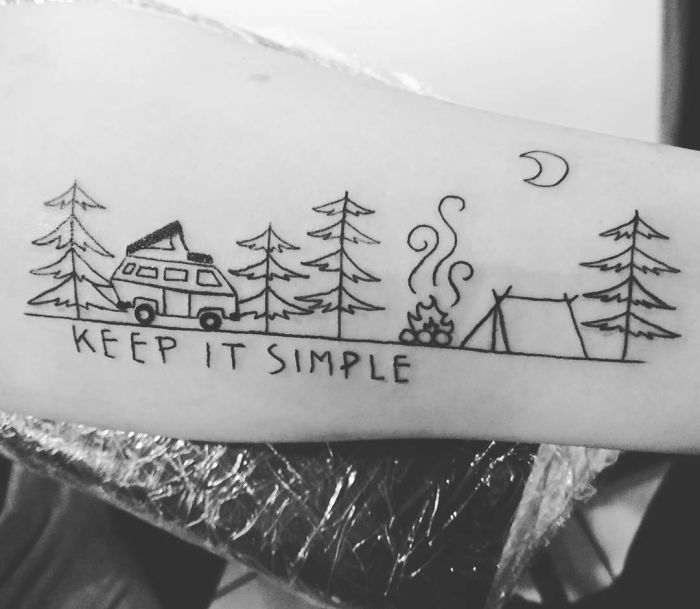 Татуировка на тему путешествия