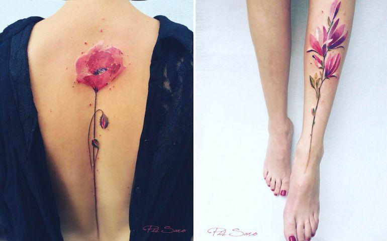 Крымская художница Pis Saro. Татуировки для девушек