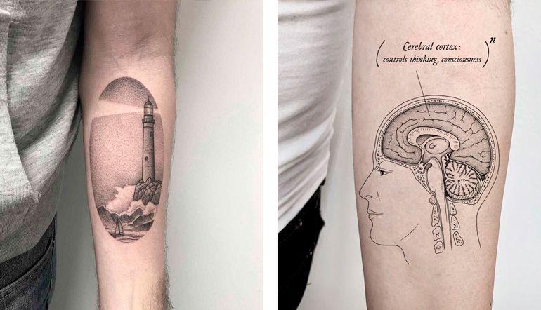 Креативные тату для вдохновения. Тату рука