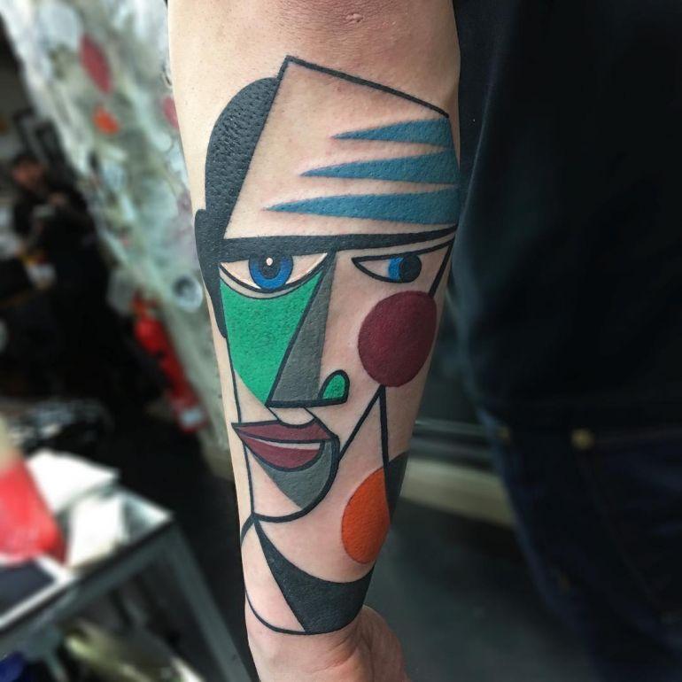 Яркие цветные татуировки. Фото тату