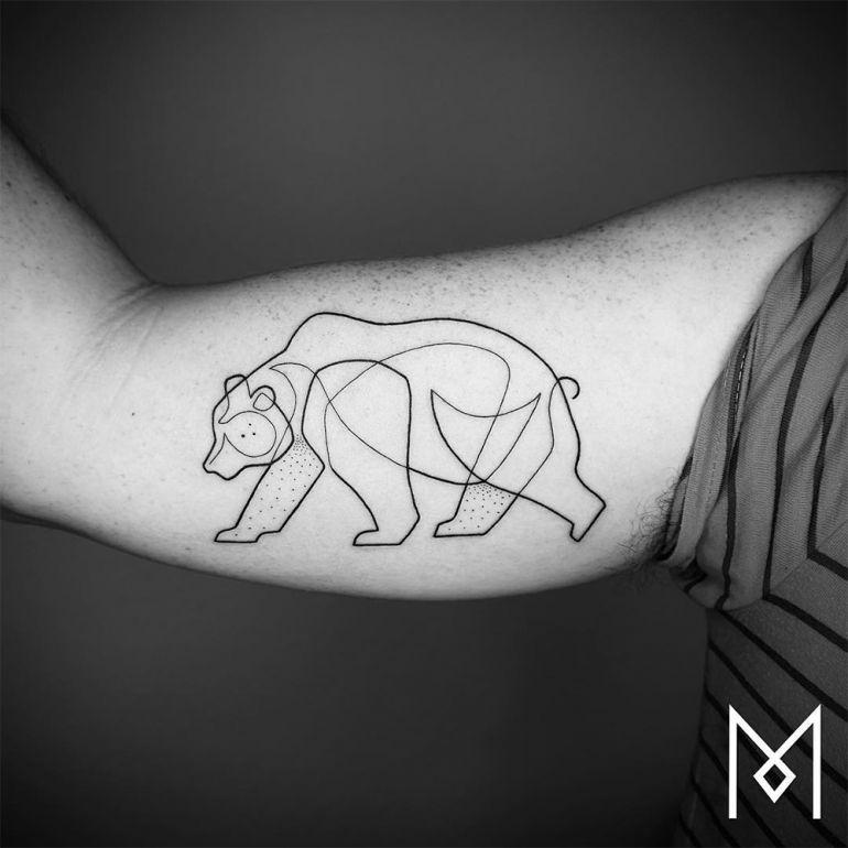 Идеи для татуировок. Медведь