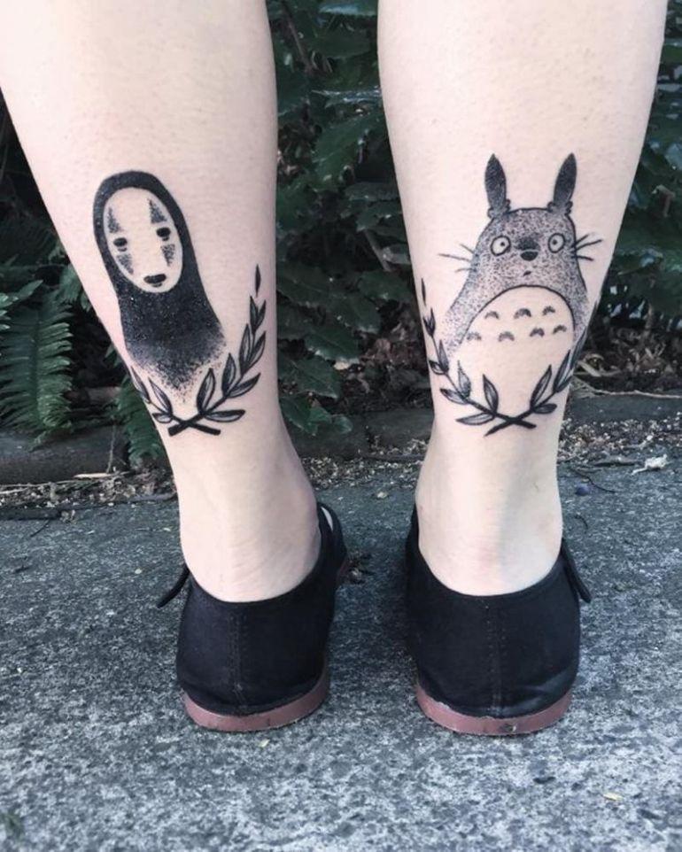 Татуировки с мультиками. Миядзаки