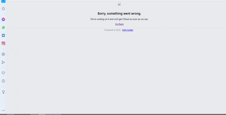 Фейсбук не работает. В Опере