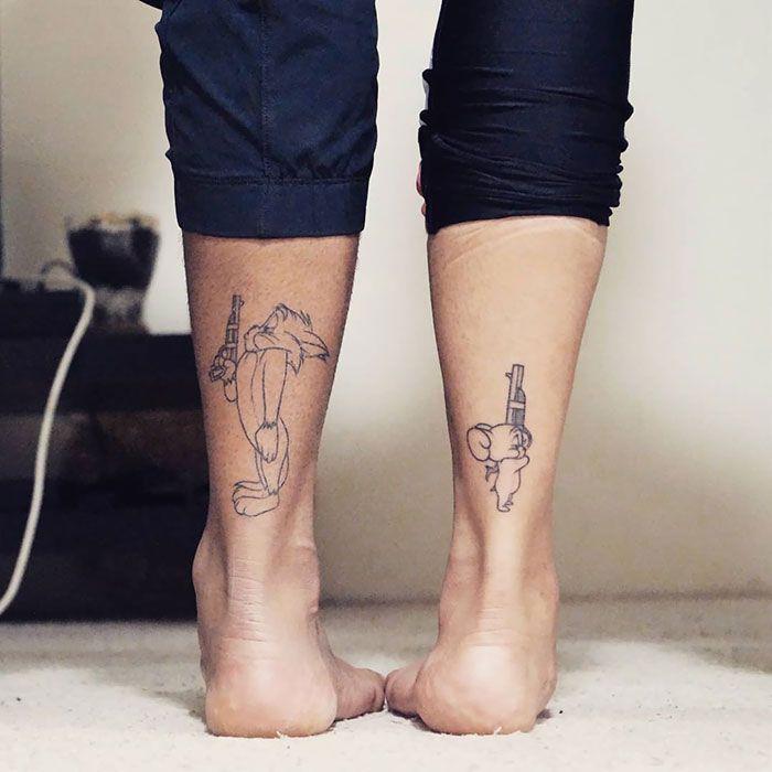 Татуировки с мультиками Том и Джерри
