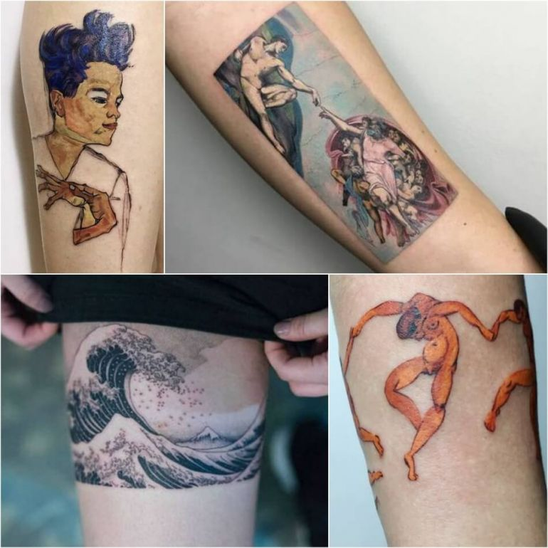 Известные картины на татуировках