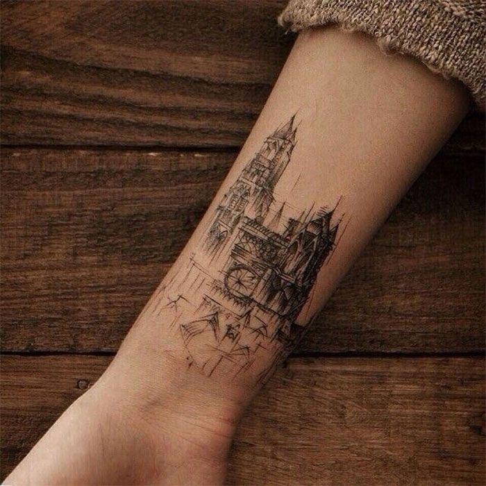 Необычные сюжеты для тату. Архитектура