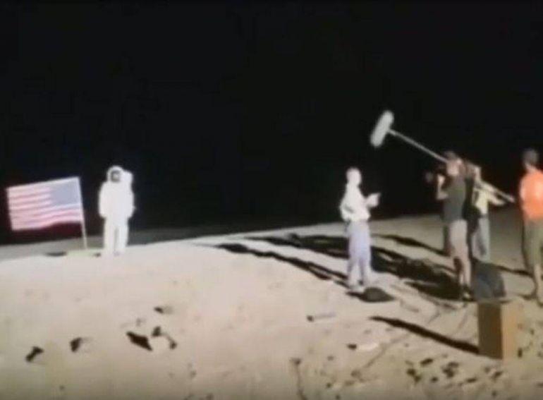 Высадка американцев на Луну. Съемки