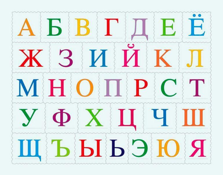Русский алфавит. Картинка