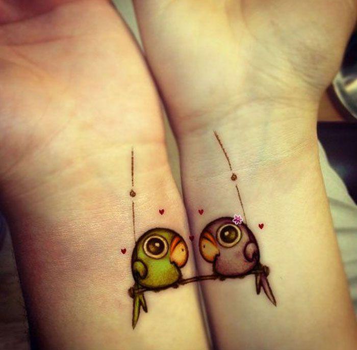 Красивые птицы на татуировках