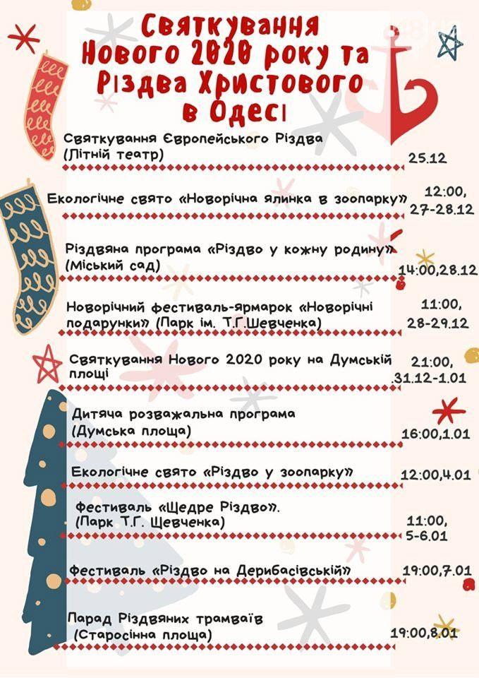 Полная новогодняя программа 2020 в Одессе