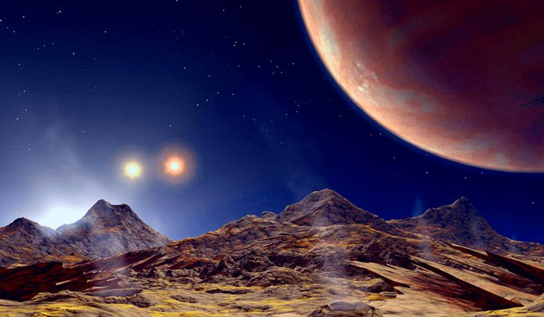 NASA создали видео-симуляцию заката Солнца на других планетах