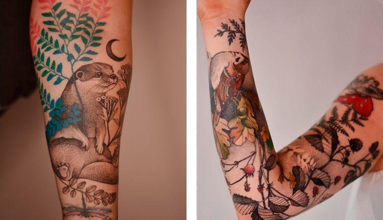 Джоанна Свирска. Татуировки рука