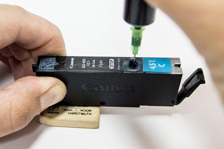 Заправка картриджей на струйном принтере