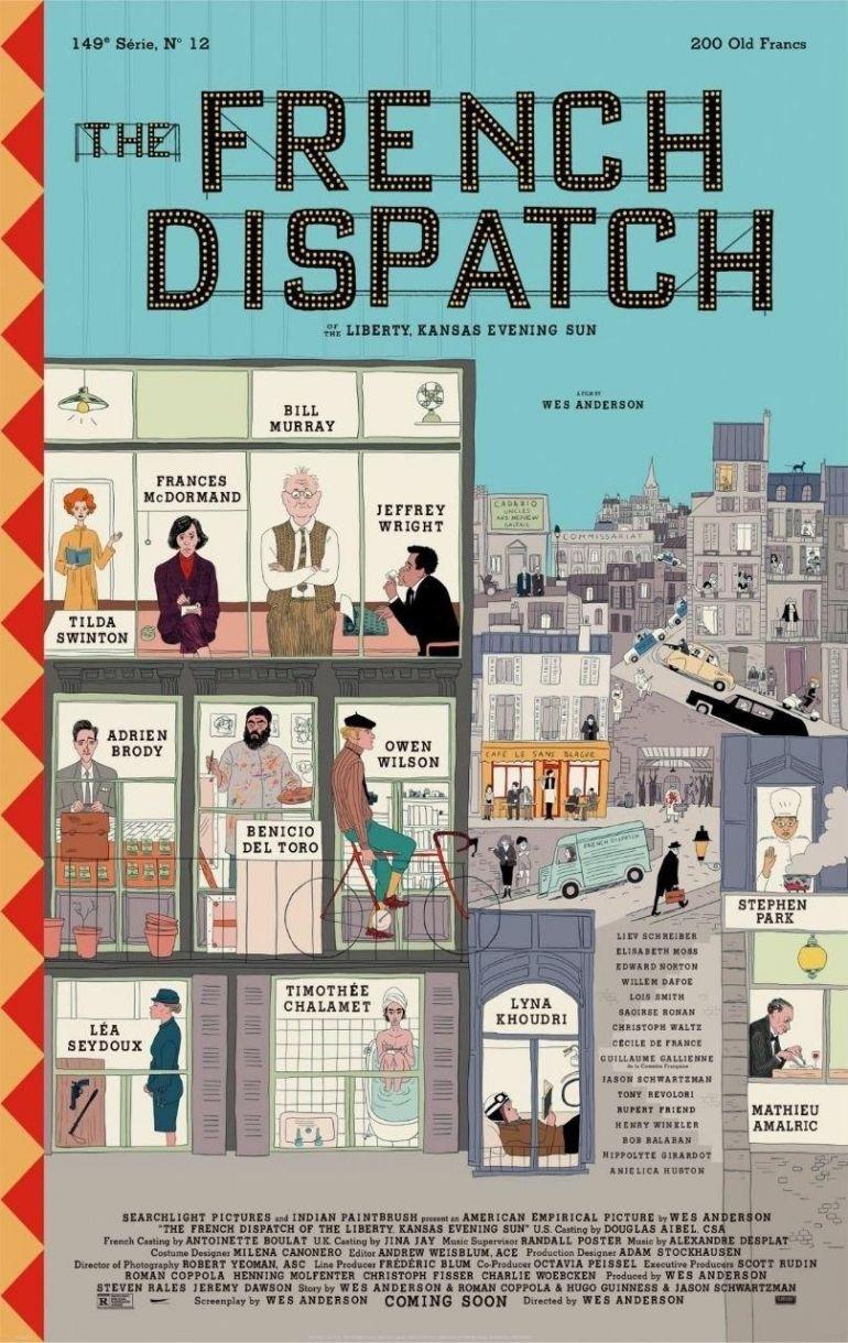 Официальный постер нового фильма Уэса Андерсона The French Dispatch