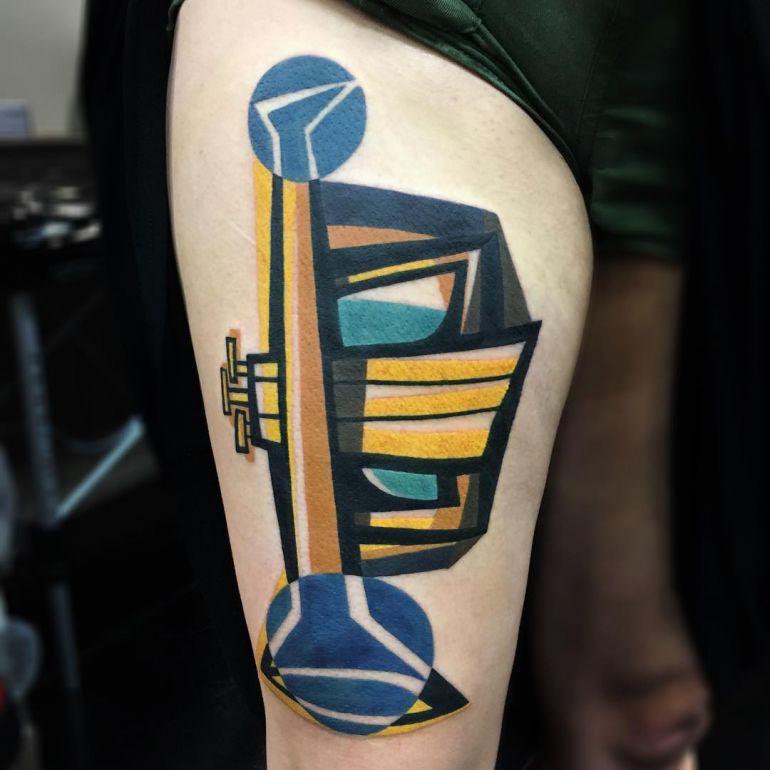 Яркие цветные татуировки. Эскиз тату