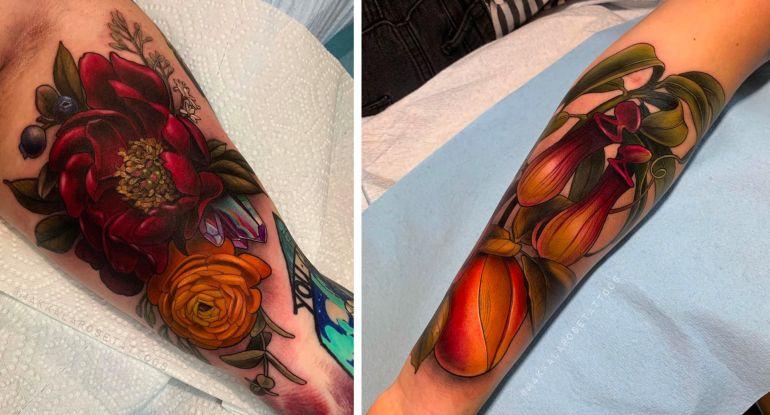 идеи для тату фрукты и цветы