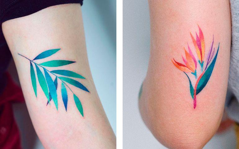 Растения и животные на тату