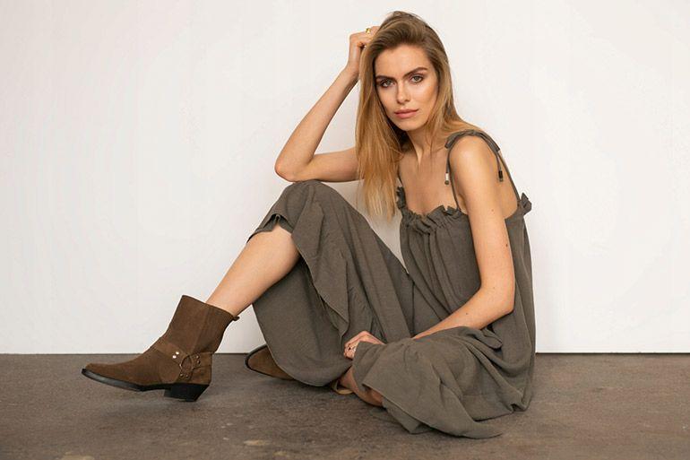 модные коричневые женские сапоги осень 2020