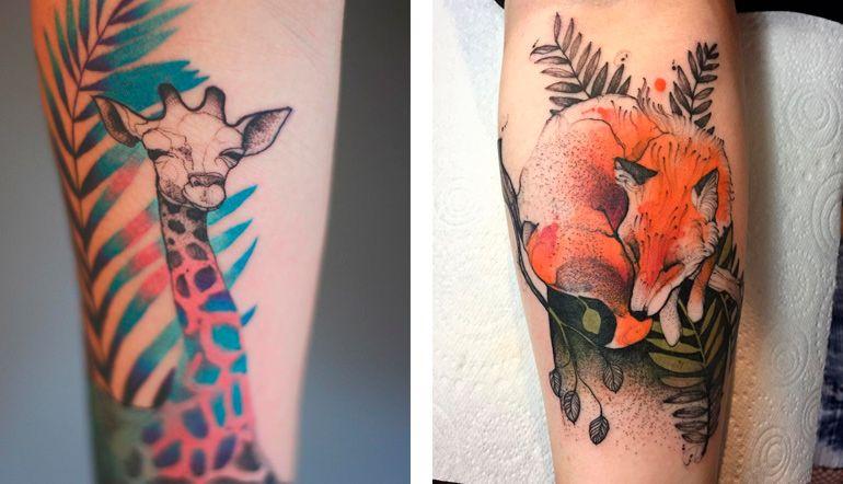 Джоанна Свирска. Татуировки животные