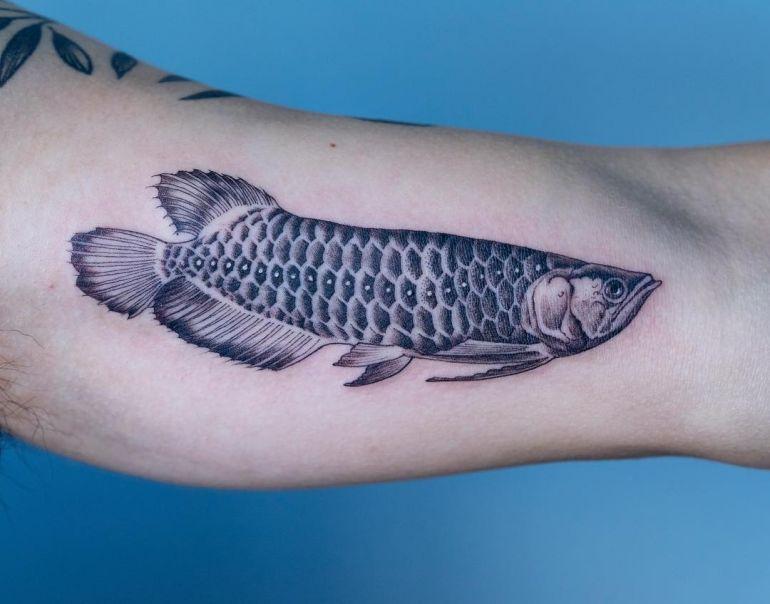Необычные татуировки рыба