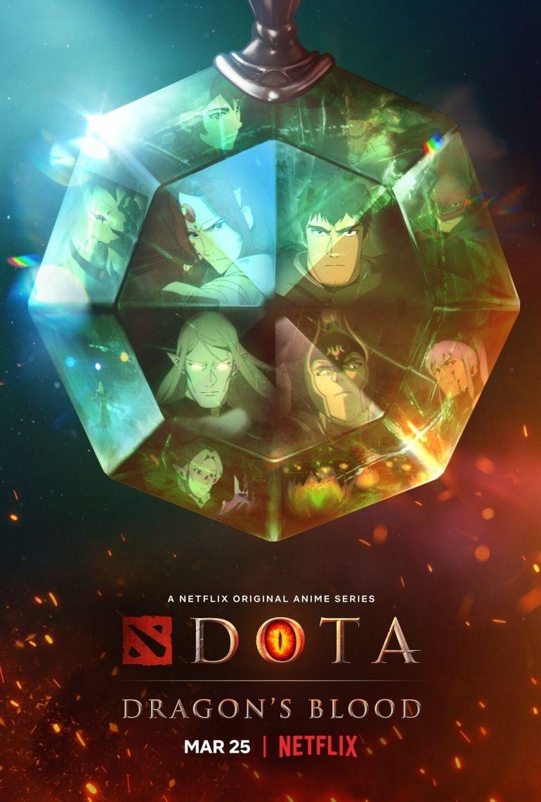 Два постера DOTA: Dragon's Blood