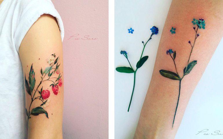 Тату растения. Эскизы татуировок
