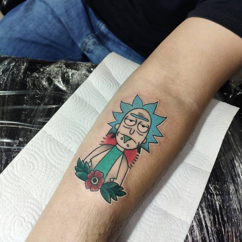 Татуировки с мультиками. Рик