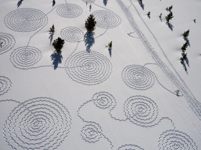 Зимовий ленд-арт
