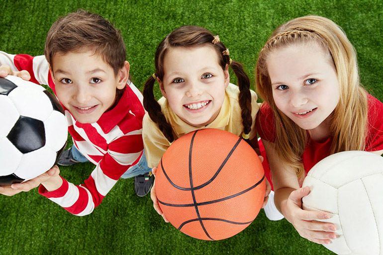 занятие спортом с детьми
