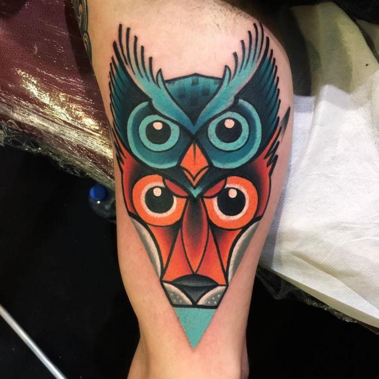 Яркие цветные татуировки. Тату рука