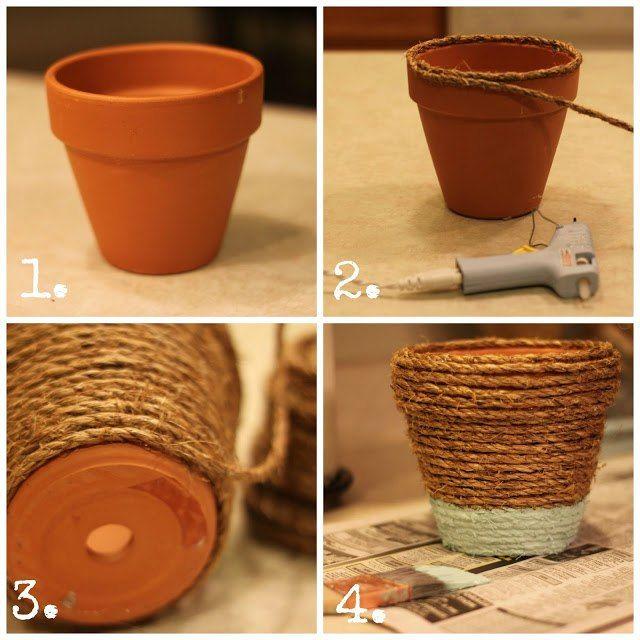 Как сделать горшки для цветов