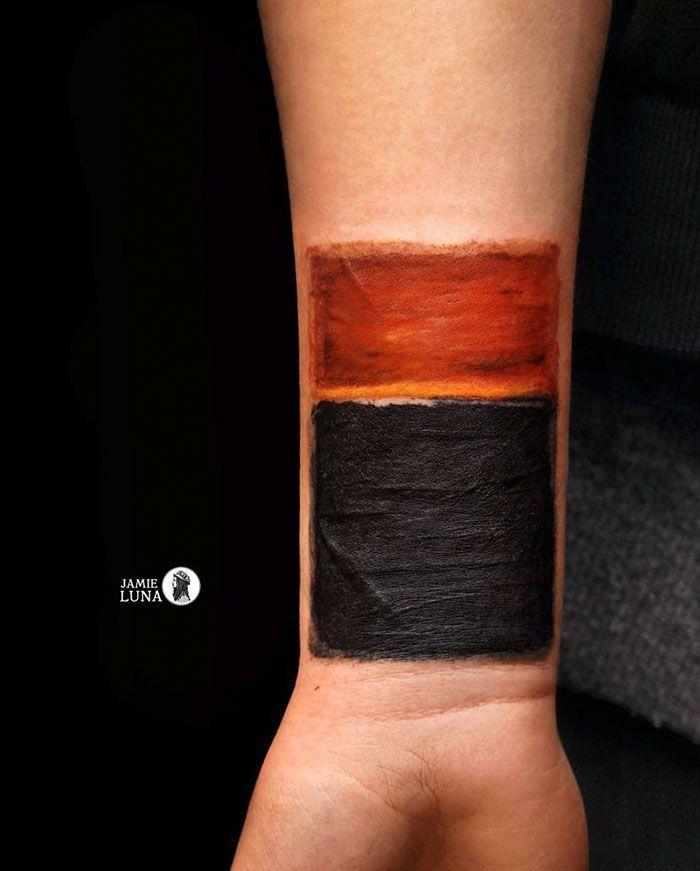 Картины на татуировке. Ротко