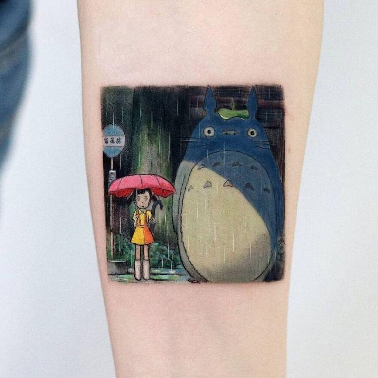 Миядзаки татуировка. Эскиз тату